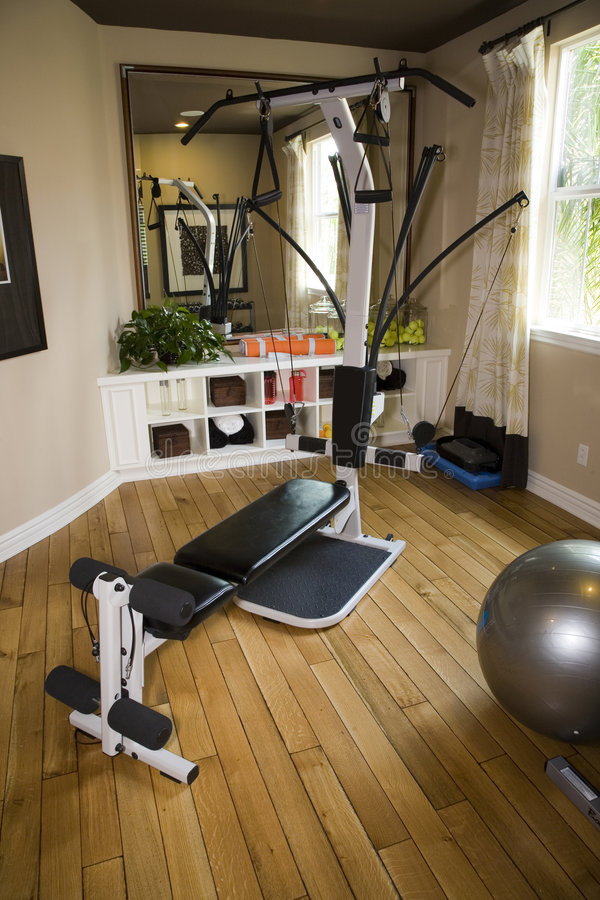Luxury Home Gym Royalty Free Stock Images