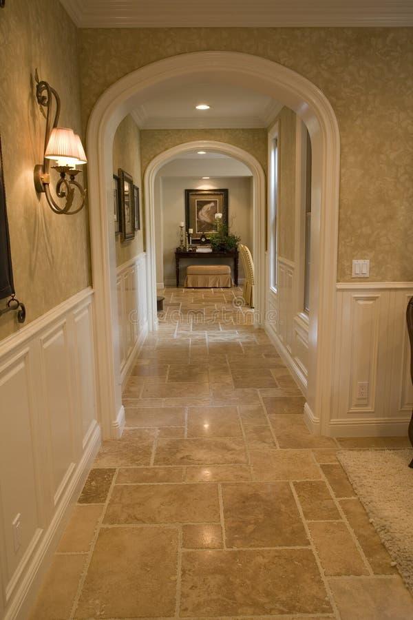 Luxury home hallway royalty free stock image
