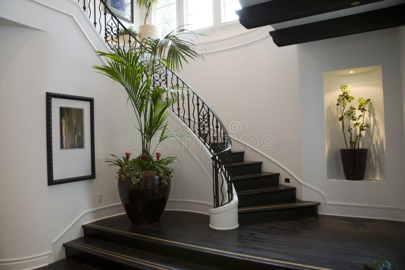 Luxury Home Hallway. Stock Photos