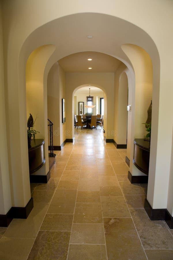 Luxury home hallway.