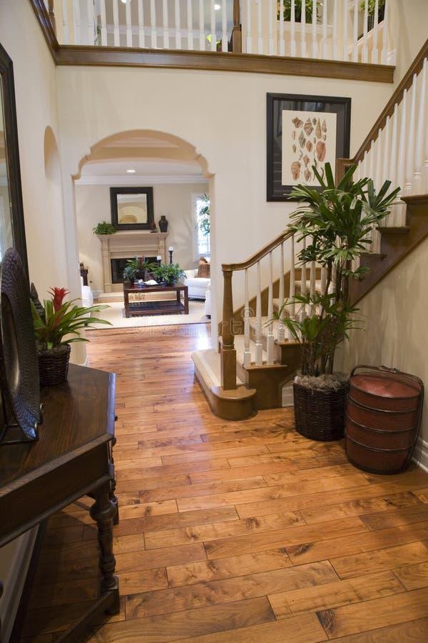 Luxury home hallway stock photo