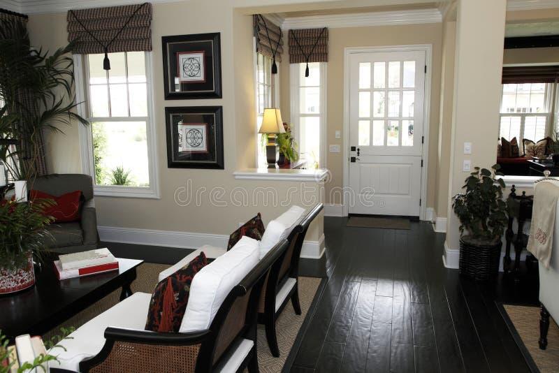 Luxury home hallway stock photography