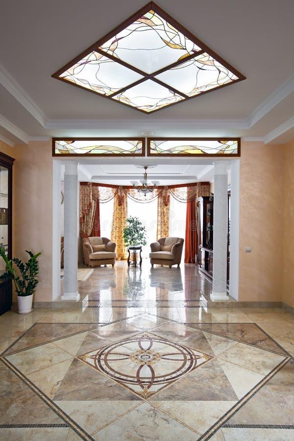 Luxury home interior stock image