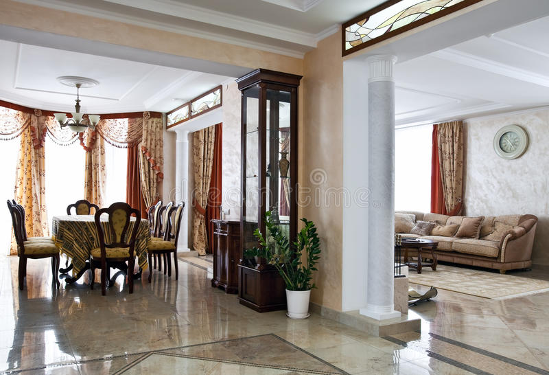 Luxury home interior stock photos