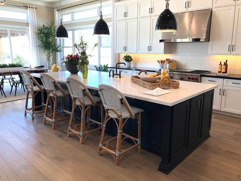 Luxury Home Interior modèle photographie stock
