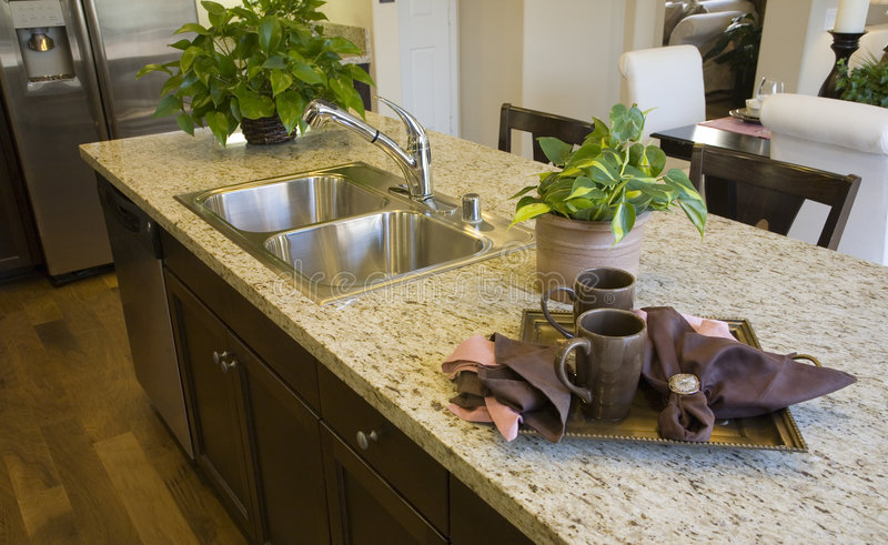 Luxury home kitchen royalty free stock images