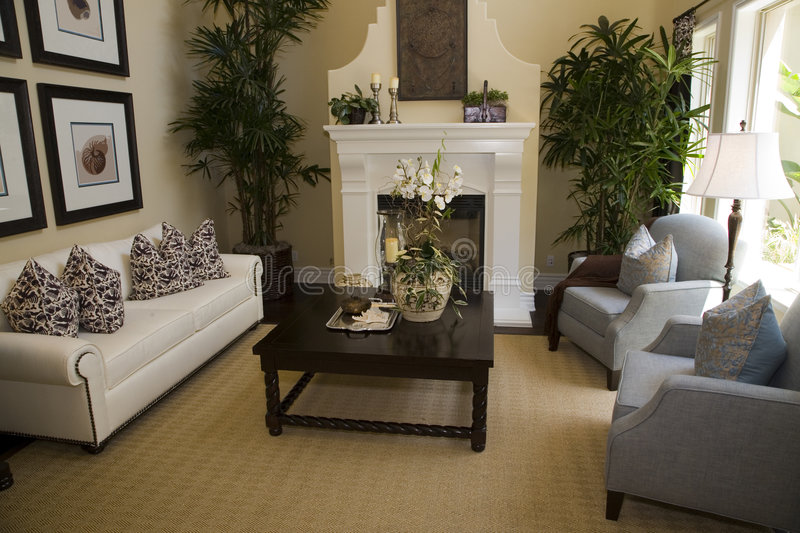 Luxury home living room royalty free stock images