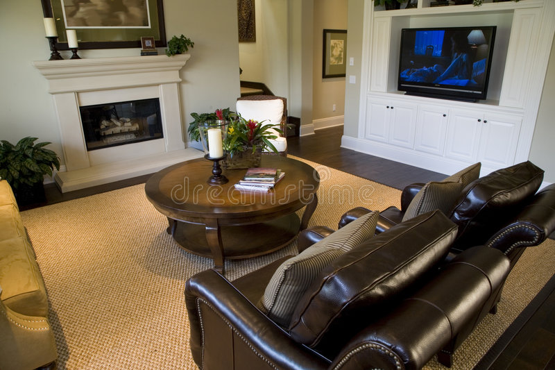 Download Luxury home living room stock image. Image of fireplace - 5434081