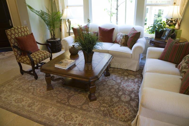 Luxury home living room. stock image