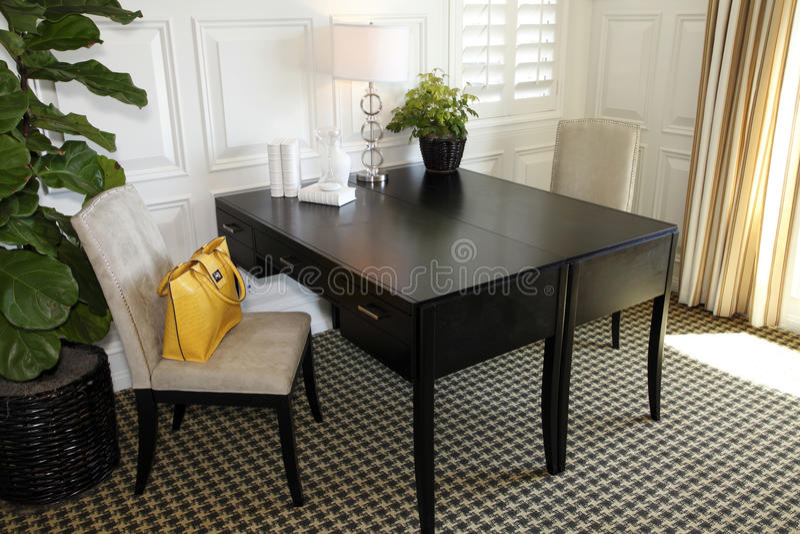 Luxury home office stock image