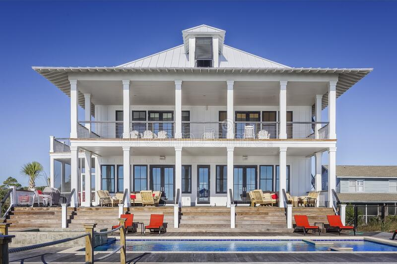 Luxury home with pool royalty free stock photography