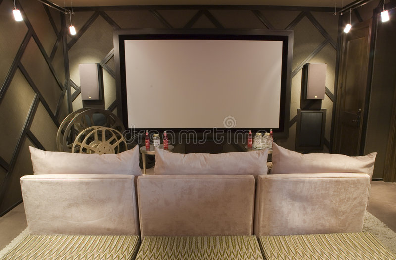 Luxury home theater royalty free stock image