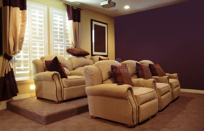 Luxury Home Theater royalty free stock photo