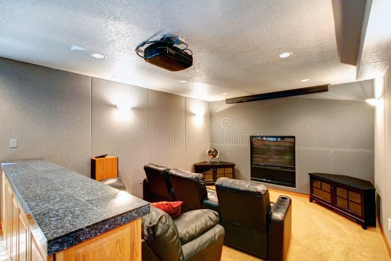Luxury home theatre stock photos