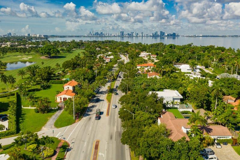 Luxury homes real estate on Alton Road Miami Beach. USA stock photography