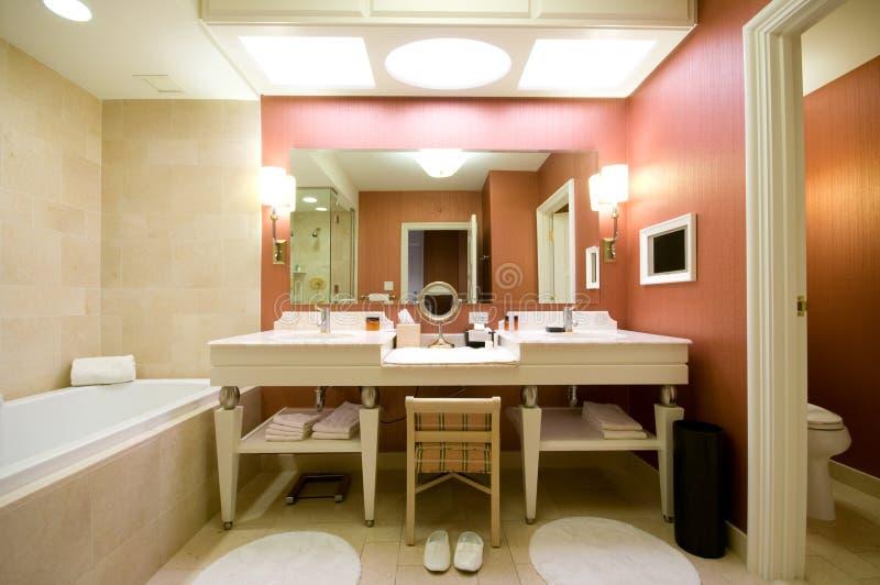 Luxury hotel bathroom royalty free stock photography