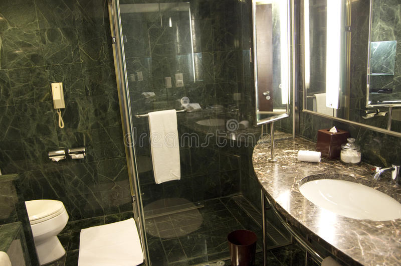 Luxury hotel bathroom marble royalty free stock image