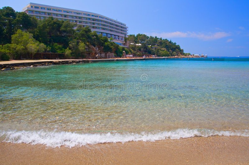 Luxury Hotel Beach royalty free stock photos