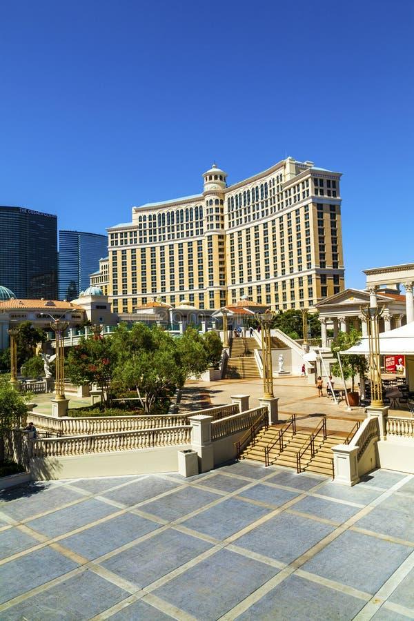 Luxury hotel Bellagio in Las Vegas stock photography