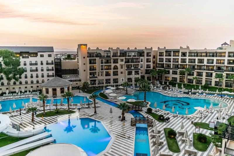 Luxury hotel in Egypt, Africa stock images