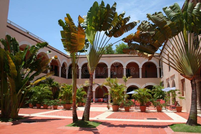 Luxury hotel garden royalty free stock image