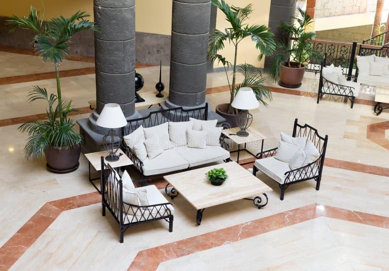 Luxury hotel lobby. stock image