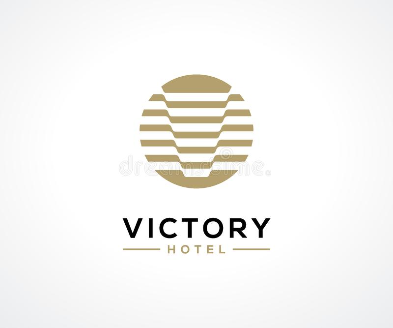 Luxury Hotel logo design concept, Hotel logo template vector illustration