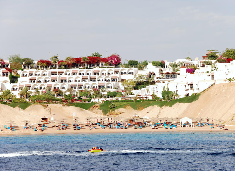 Download Luxury hotel in Naama Bay stock image. Image of green - 14183841
