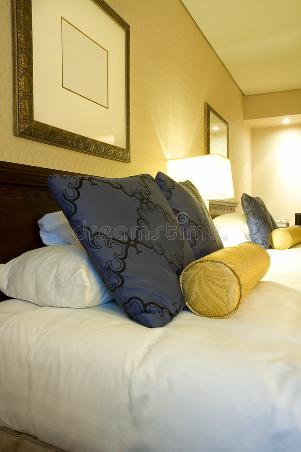 Download Luxury Hotel Room Bedding And Pillows Stock Photos - Image: 9083223