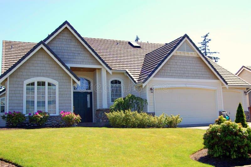 Download Luxury house stock image. Image of windows, garage, houses - 2520723