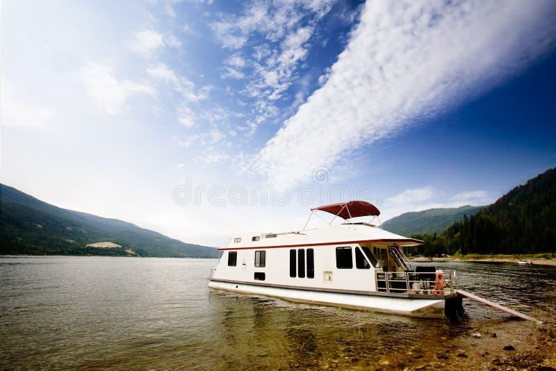Luxury House Boat stock images