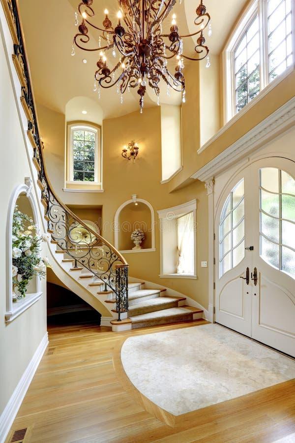 Luxury House Interior Entrance Hallway Stock Image