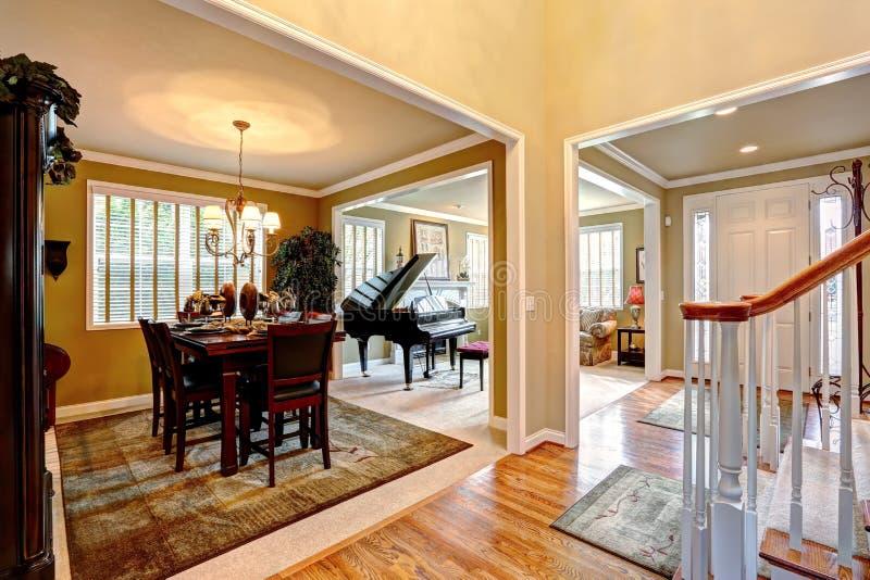 Luxury house interior with open floor plan stock photo for Luxury open floor plans