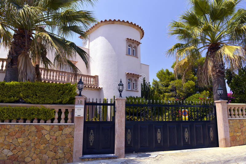 Luxury House in Mallorca, Spain stock image