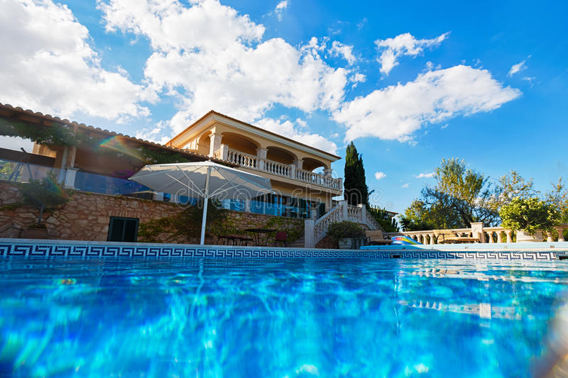 Luxury house in Mallorca royalty free stock photography