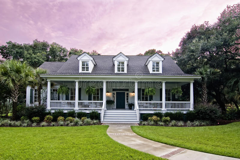Download Luxury house at twilight stock image. Image of real, dream - 12719087