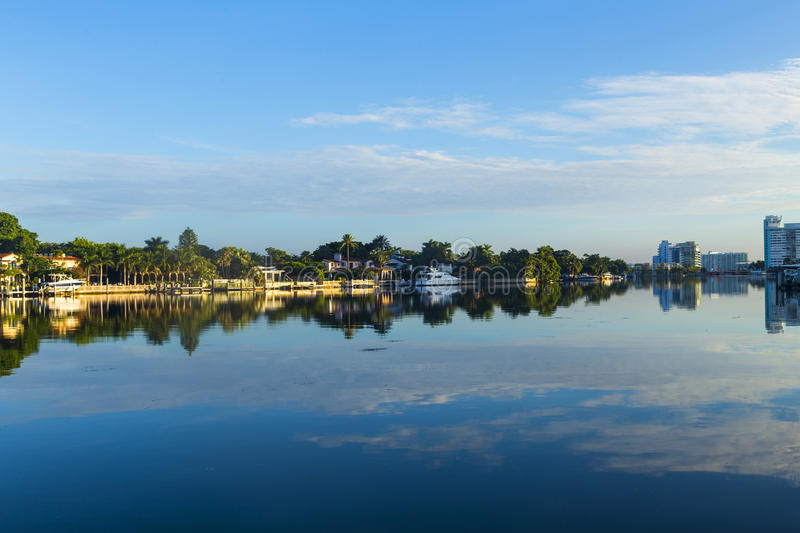Luxury houses at the canal on royalty free stock photo