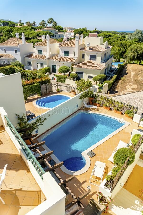 Free Luxury Houses With Swimming Pools In Quinta Do Lago, Algarve, Portugal Stock Photo - 182850200