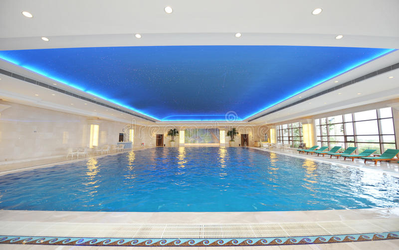 Luxury indoor pool stock image image of peaceful - Invisible edge pool ...