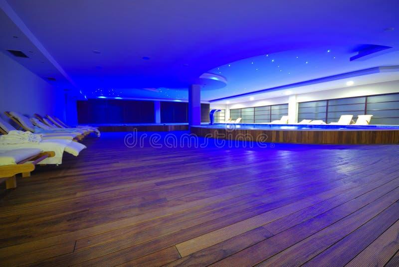 Luxury indoor pool stock photography