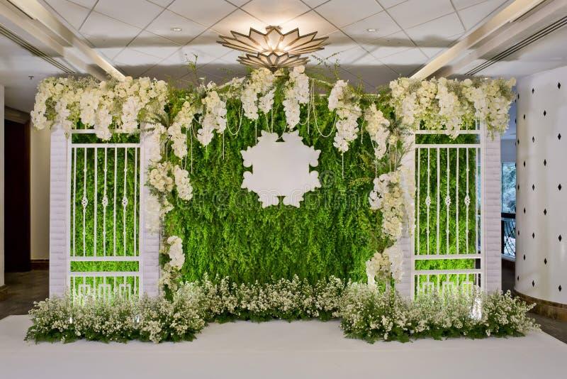 Luxury Indoors Wedding Backdrop Decoration Stock Image