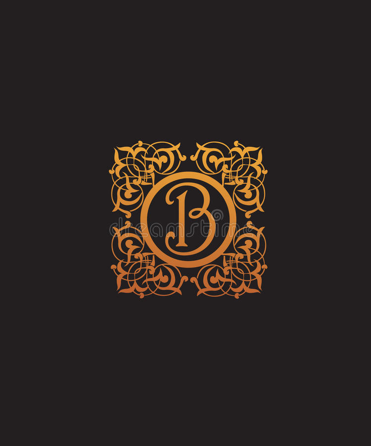 Luxury initial letter B logo vector. Luxury Letter E logo vector for your company royalty free illustration