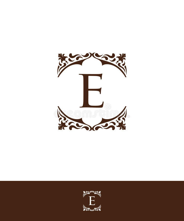 Luxury initial letter E logo vector. Luxury Letter E logo vector for your company royalty free illustration