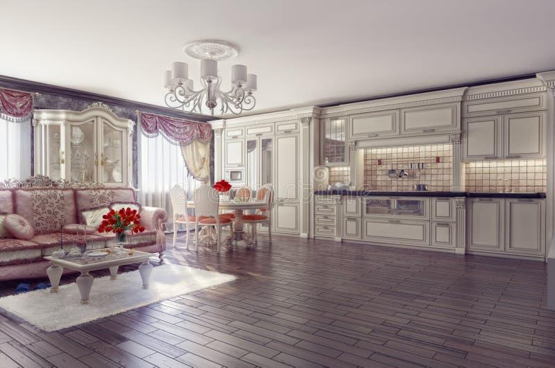 Luxury interior stock illustration