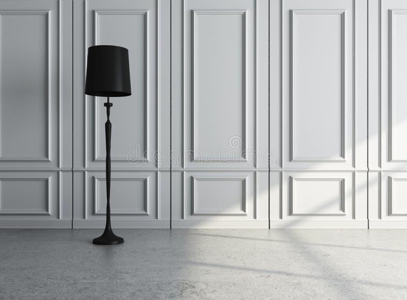 Luxury interior. With lamp. closeup stock illustration