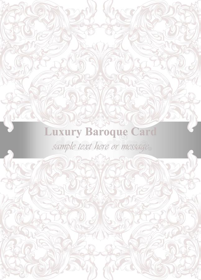 Luxury invitation card vector royal victorian pattern ornament download luxury invitation card vector royal victorian pattern ornament rich rococo backgrounds stock vector stopboris Images