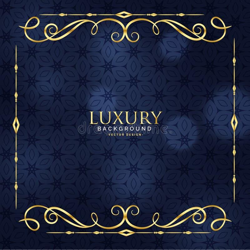 Luxury invitation floral premium background stock illustration