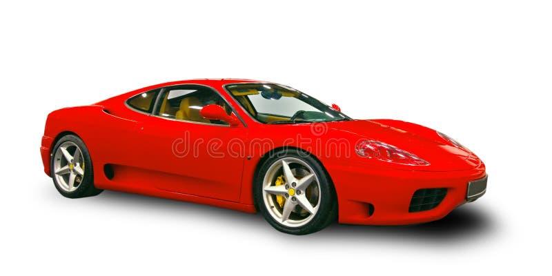 Luxury Italian supercar. White background stock photos