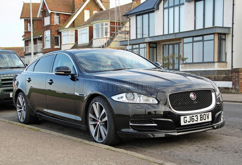 Luxury jaguar xjl car royalty free stock photos