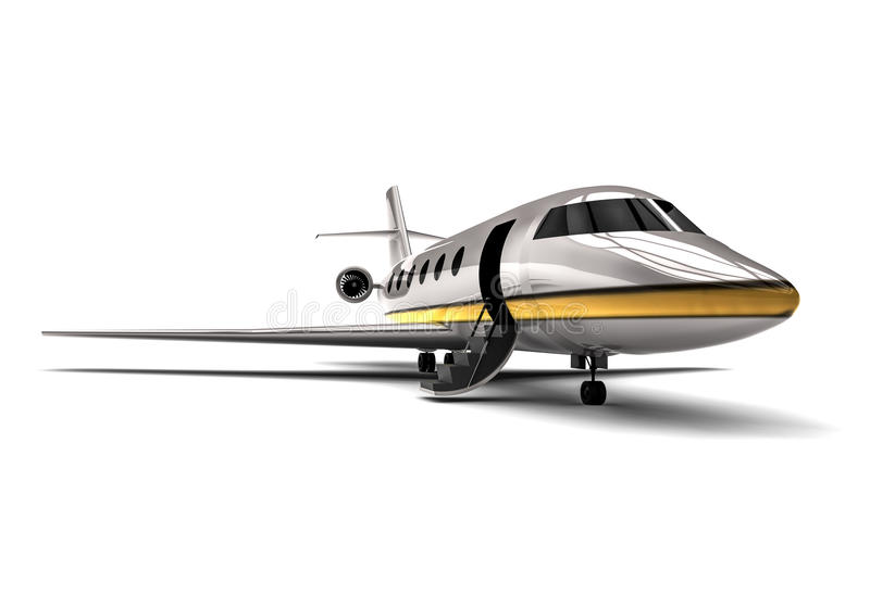 Luxury Jet. 3D render image representing a Luxury jet royalty free illustration